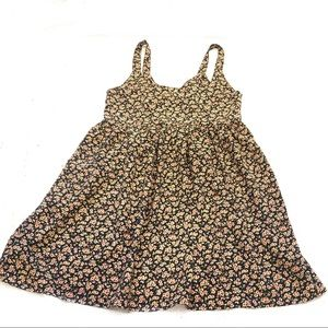 UO Urban Renewal Floral Babydoll Tank Dress Smock